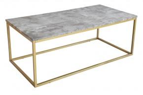 Konferenční stolek Beside - vzhled bílého mramoru (kov, lamino)