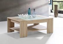 Konferenční stolek Brandy (dub sonoma/bílé sklo)