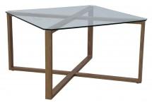 Konferenční stolek Cleo čtverec (sklo, kov) - PŘEBALENO