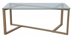 Konferenční stolek Cleo - obdélník (sklo, kov)