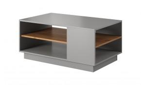 Konferenční stolek Duras (1 police, lamino, šedá/hnědá)
