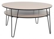 Konferenční stolek Leon - kulatý (dubová dýha)