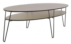 Konferenční stolek Leon - oválný (dubová dýha)