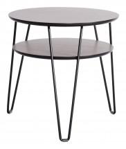 Konferenční stolek Leon - tmavý rám (dubová dýha)