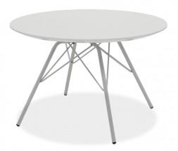 Konferenční stolek  LOLA 9306-001+PORGY 9316-091 (bílá/chrom)