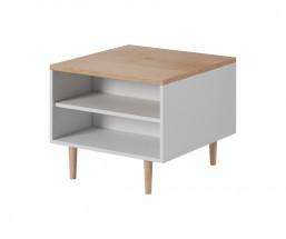 Konferenční stolek Loveli (buk pískový, bílá)