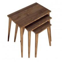 Konferenční stolek Marko - set 3 kusů (ořech)