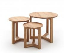 Konferenční stolek Maude - set 3 kusů (hnědá)