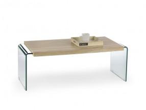 Konferenční stolek Miura (dub sonoma, transparentní)