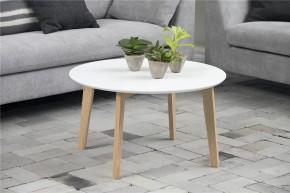 Konferenční stolek Molina (bílá deska/jasan nohy)