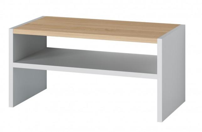 Konferenční stolek Oslo (dub sonoma/bílá)