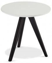Konferenční stolek Porir - 40x40x40 cm (bílá, černá)