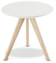 Konferenční stolek Porir - 40x40x40 cm (bílá, hnědá)