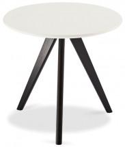 Konferenční stolek Porir - 48x45x48 cm (bílá, černá)