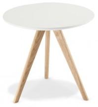 Konferenční stolek Porir - 48x45x48 cm (bílá, hnědá)