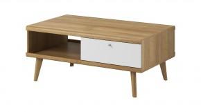 Konferenční stolek Primo (dub riviera, bílá)