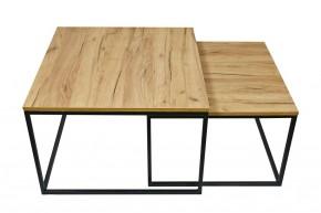 Konferenční stolek Ravelo - set 2 kusů (dub craft, černá)