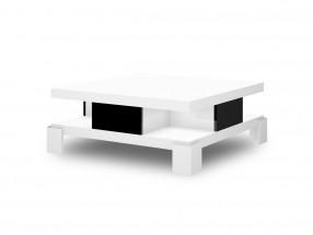 Konferenční stolek Salina (bílá lesk+černá lesk)