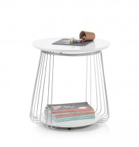 Konferenční stolek Selvan - 50x51x50 (bílá)