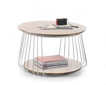 Konferenční stolek Selvan - 70x42x70 (dub, hnědá)