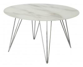 Konferenční stolek Sevila - skleněná deska, chromové nohy