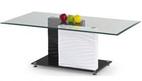 Konferenční stolek Shanell (Sklo/Černo-bílá)