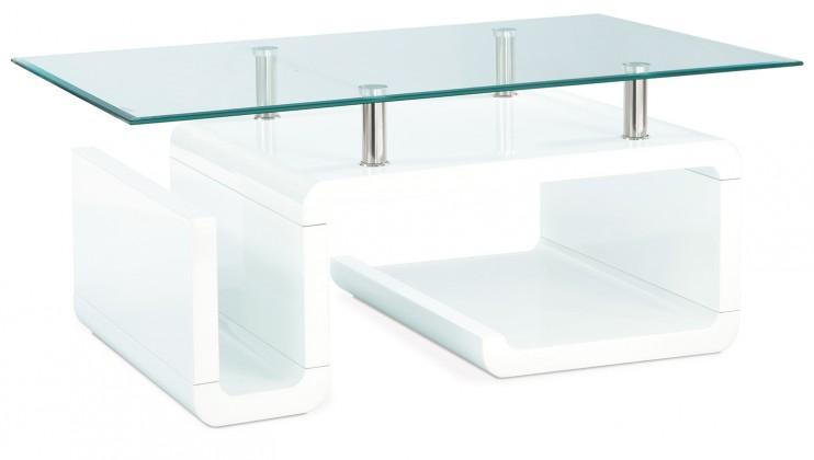 Konferenční stolek - skleněný AC 057 (bílá vysoký lesk)