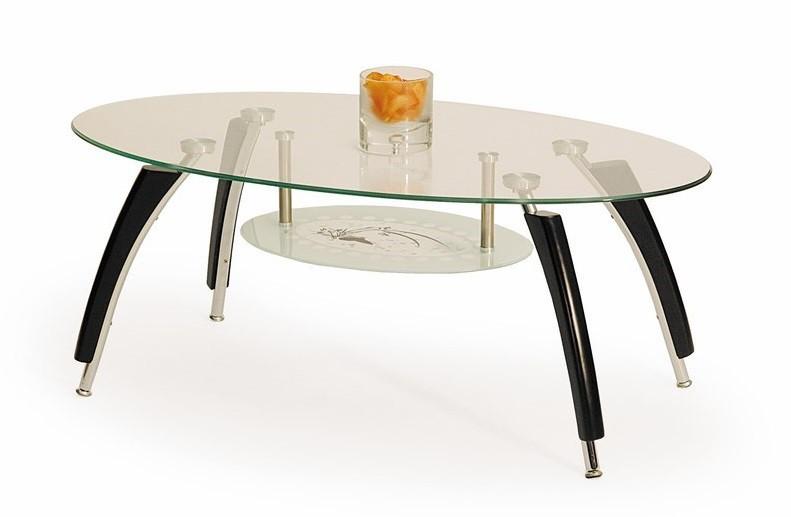 Konferenční stolek - skleněný Ada(wenge)