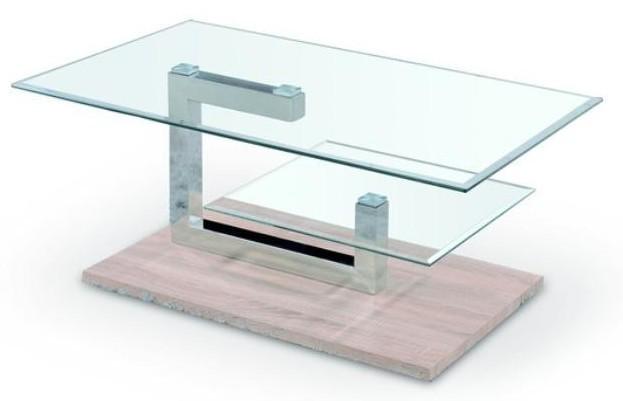 Konferenční stolek - skleněný Adela (dub sonoma / sklo)
