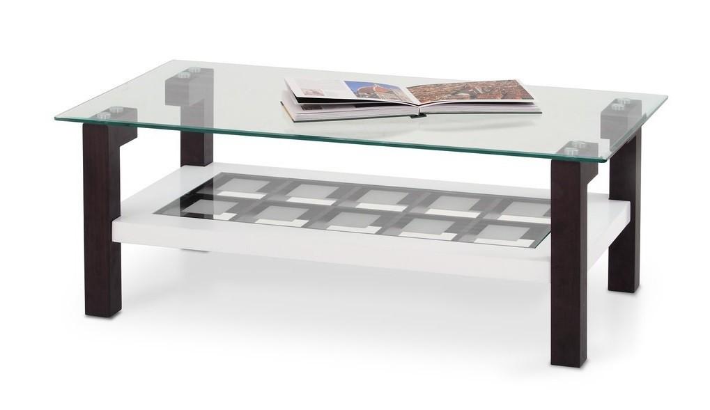 Konferenční stolek - skleněný Altea H(wenge/bílá)