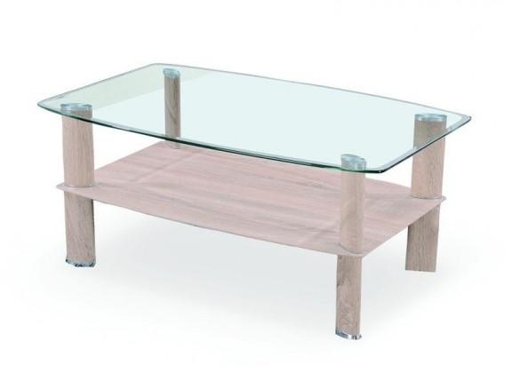 Konferenční stolek - skleněný Astra(dub sonoma)