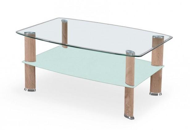 Konferenční stolek - skleněný Astra(dub sonoma/mléčné sklo)