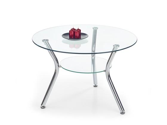 Konferenční stolek - skleněný Becky - Konferenční stolek (bezbarvý)