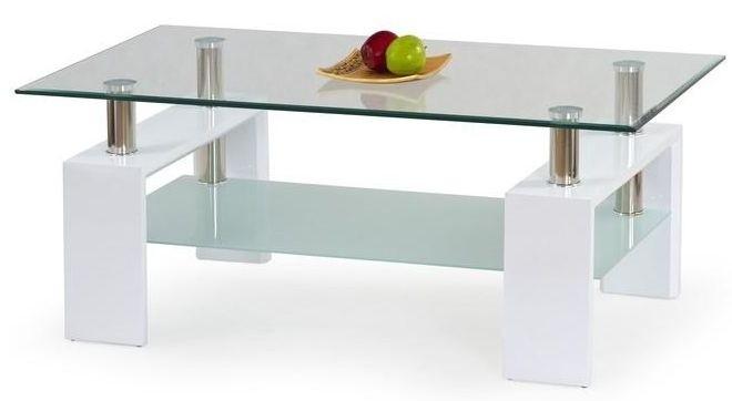 Konferenční stolek - skleněný Diana (Bílá)