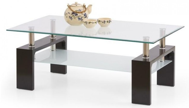 Konferenční stolek - skleněný Diana Intro (wenge)