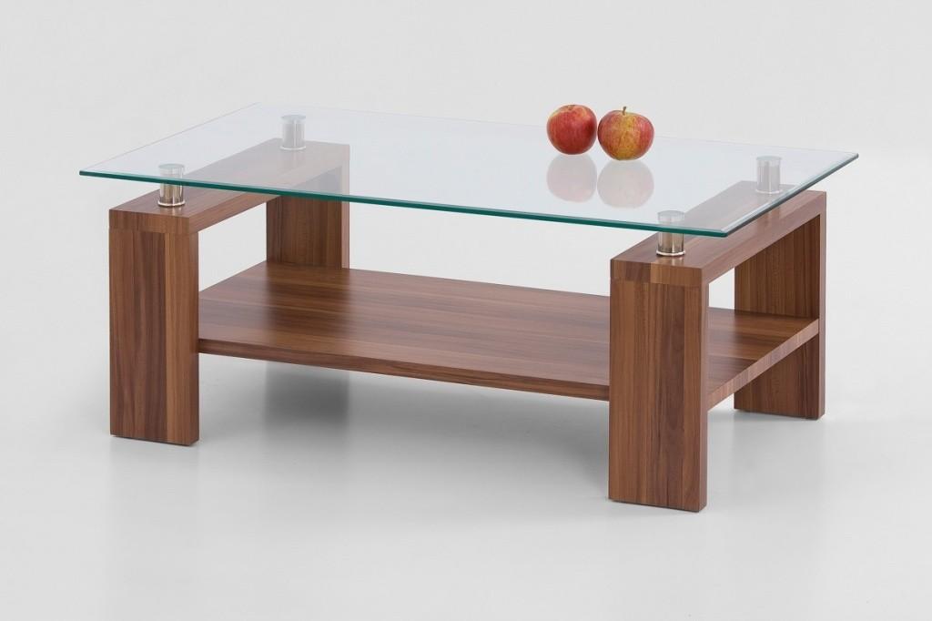 Konferenční stolek - skleněný Diana Plus (Ořech)