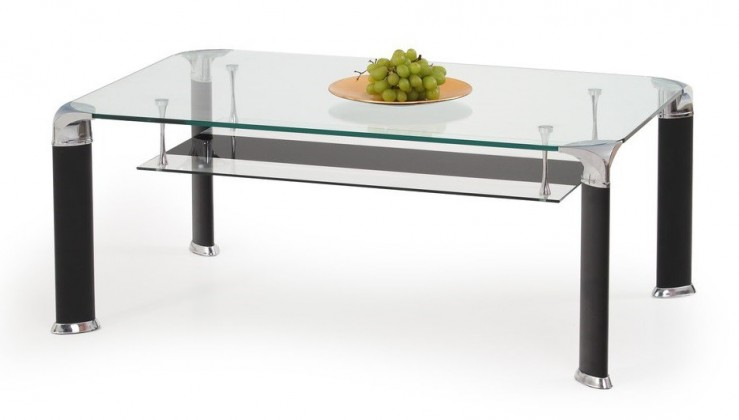 Konferenční stolek - skleněný Dolores(sklo/černá)