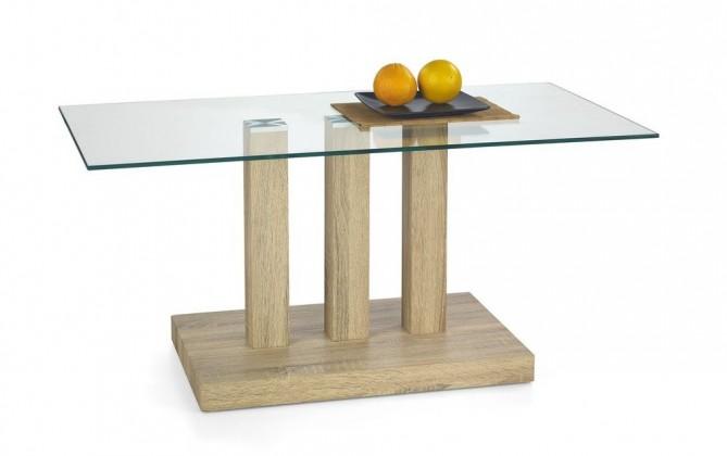 Konferenční stolek - skleněný Donata(dub sonoma)