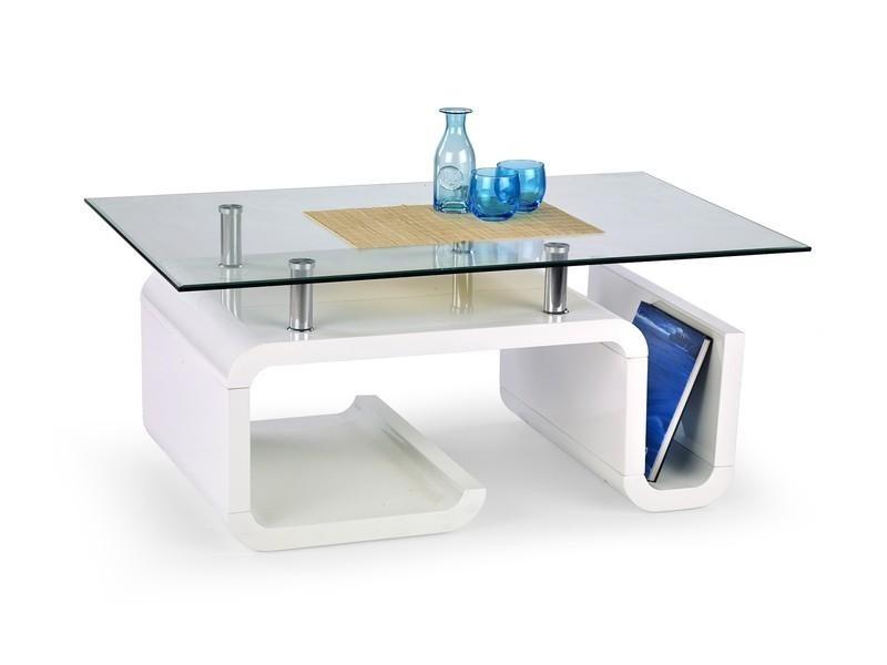 Konferenční stolek - skleněný Esperanza (Bílá)