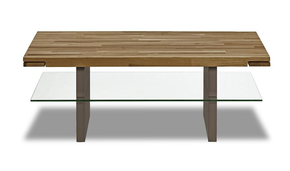 Konferenční stolek - skleněný Feel - Konferenční stolek (dub/cubanit)