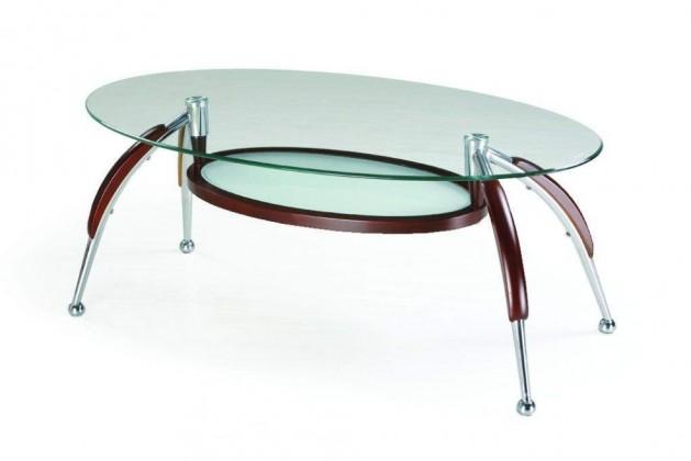 Konferenční stolek - skleněný Gloria (Wenge)