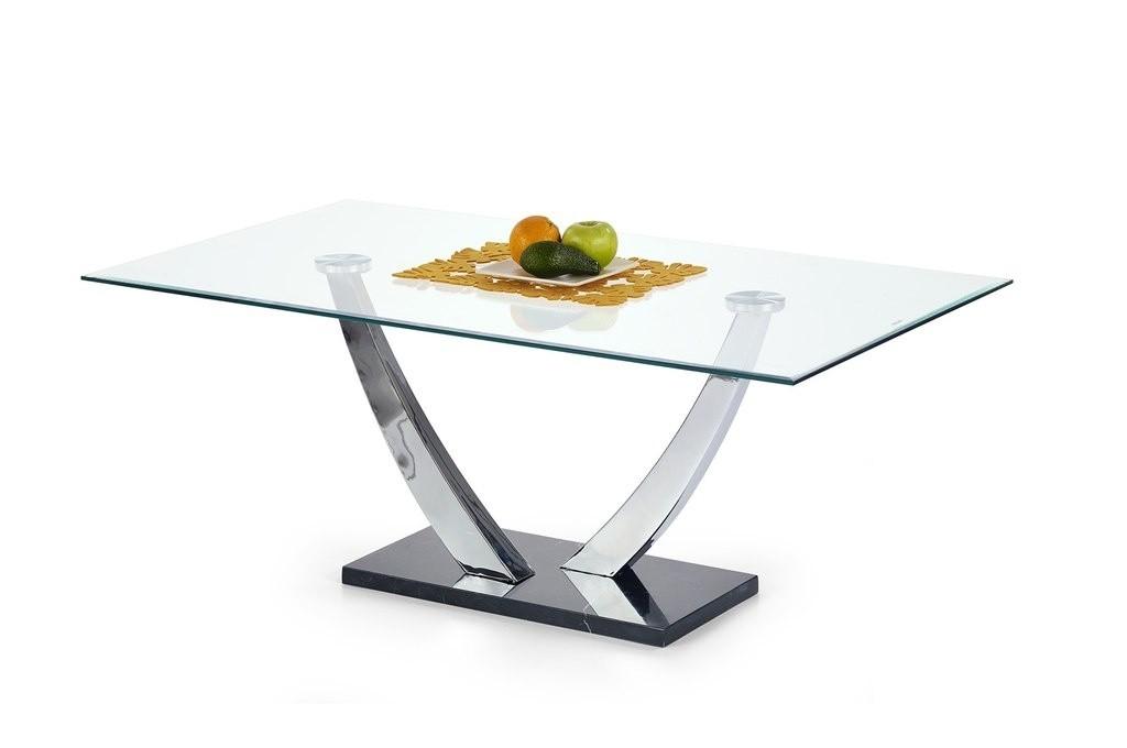 Konferenční stolek - skleněný Isaura (Sklo/Chrom/Mramor)