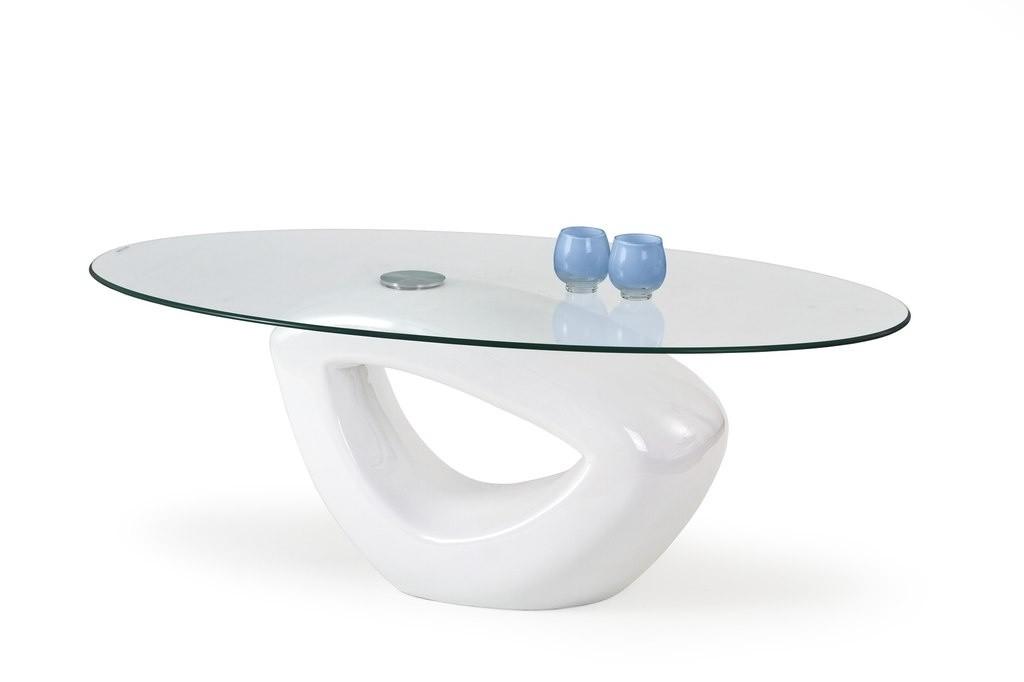 Konferenční stolek - skleněný Jasmin (Bílá)