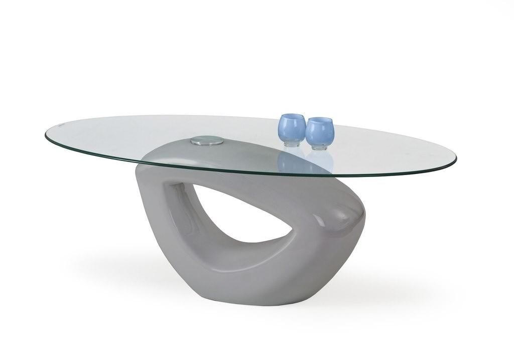 Konferenční stolek - skleněný Jasmin (Šedá)