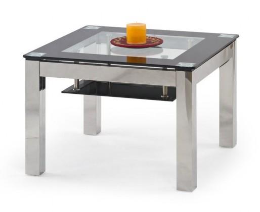 Konferenční stolek - skleněný Katrina Kwadrat(sklo s černým rámem)