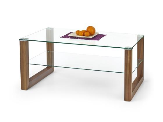 Konferenční stolek - skleněný Kelly - Konferenční stolek (orech)