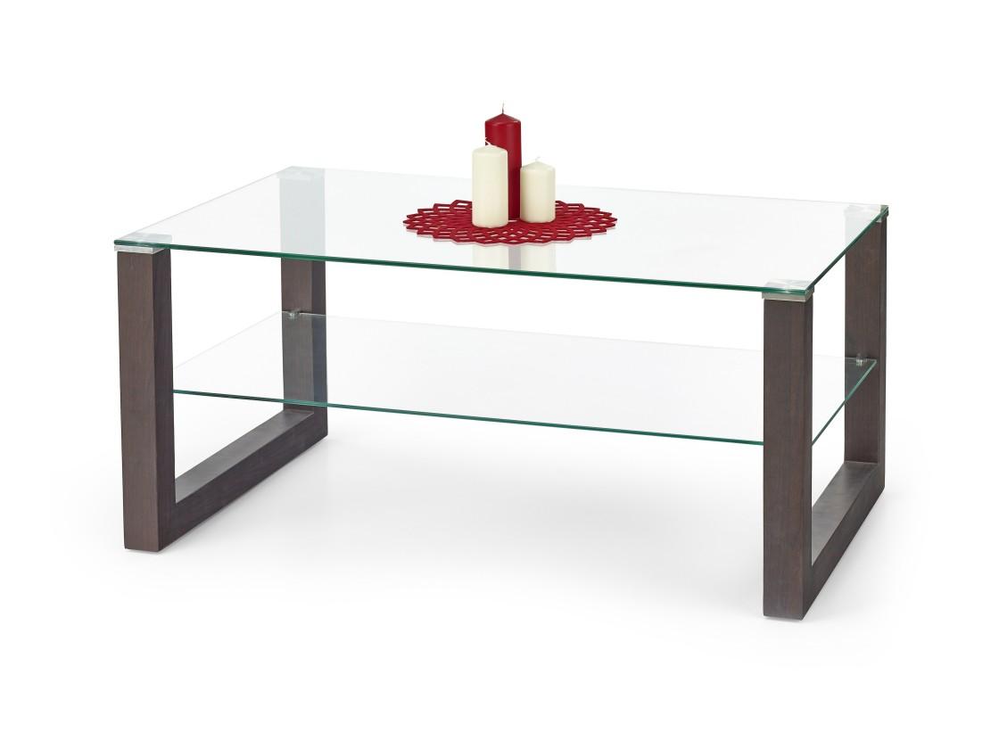 Konferenční stolek - skleněný Kelly - Konferenční stolek (wenge)