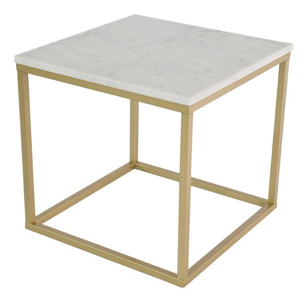 Konferenční stolek - skleněný Konferenční stolek Accent - čtverec (mramor, hnědá)