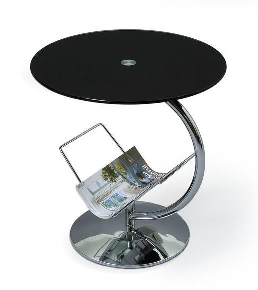 Konferenční stolek - skleněný Konferenční stolek Alma (černá)