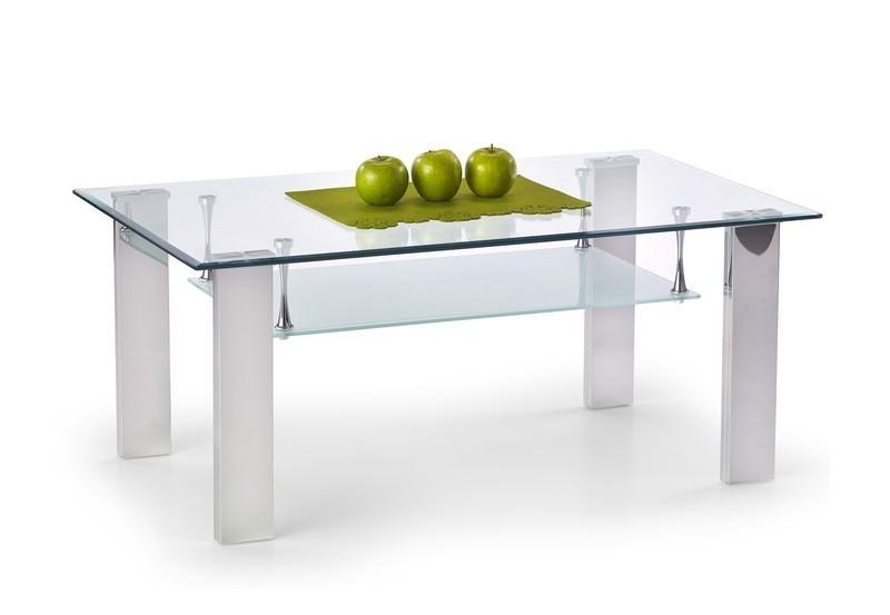 Konferenční stolek - skleněný Konferenční stolek Brisa (Čiré sklo/Nerez)